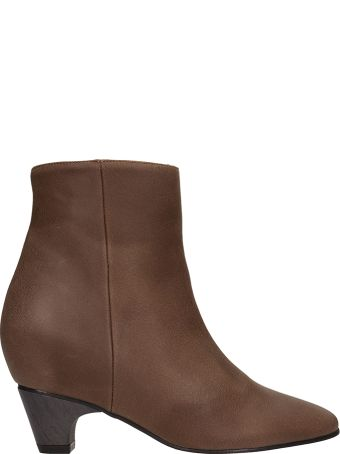 Marc Ellis Brown Leather Ankle Boots