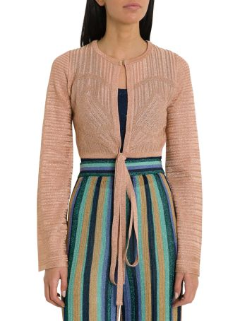 M Missoni Lurex Knit Short Cardigan
