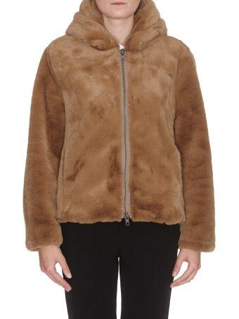 Vince Faux Fur Sweatshirt