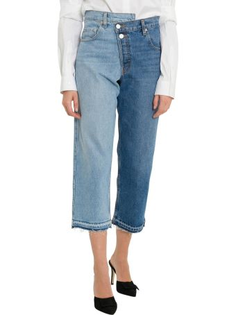 MONSE Bicolor Cropped Jeans