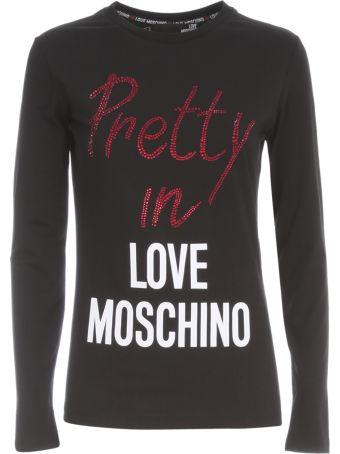 Love Moschino T-shirt L/s Print Pretty In