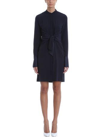 Victoria Victoria Beckham Black Cr?pe Mao Dress