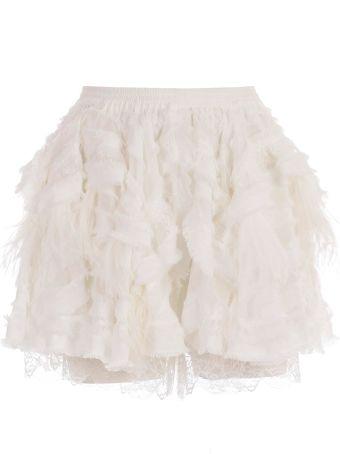 Faith Connexion Fur Lace Shorts
