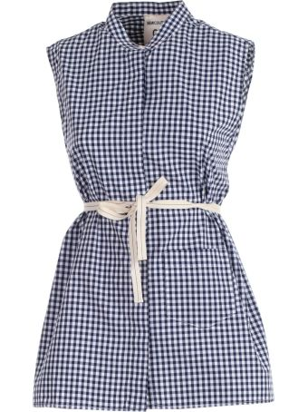 SEMICOUTURE Checked Sleeveless Top