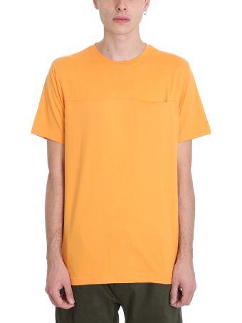 Maharishi Orange Cotton T-shirt