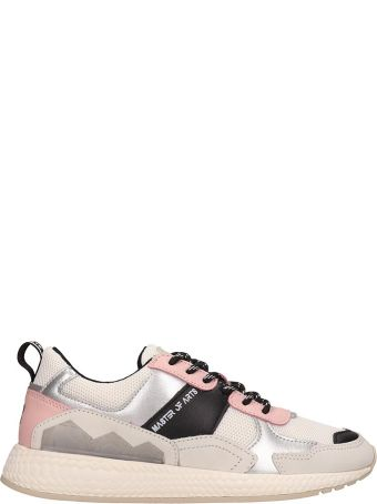 M.O.A. master of arts Grey And Pink Running Sneakers
