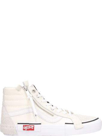 Vans White Suede And Fabric Sk8 Hi Cap Lx Sneakers