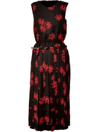 Simone Rocha Floral Pleated Dress