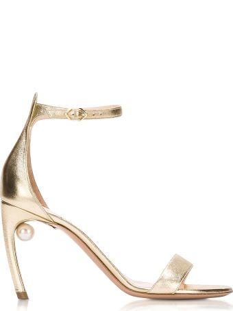 Nicholas Kirkwood Metallic Nappa 90mm Mira Pearl Sandals