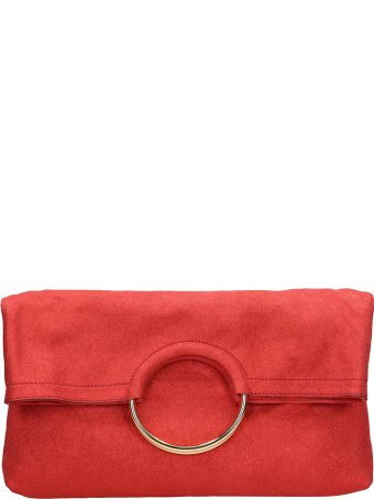 L'Autre Chose Red Leather Clutch