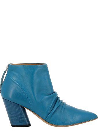 Halmanera Petrolio Leather Ankle Boots