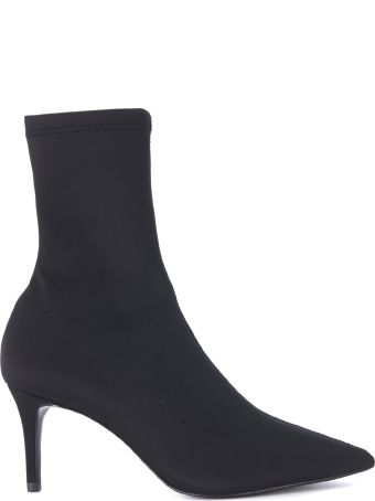 Naked Wolfe Isabella Black Lycra Ankle Boots With Heel