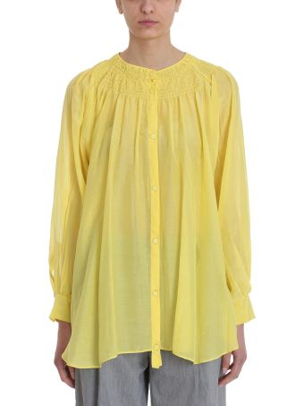 Maison Flaneur Yellow Cotton Blouse