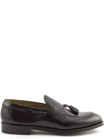 Doucal's Brown Semi-glossy Leather Loafer