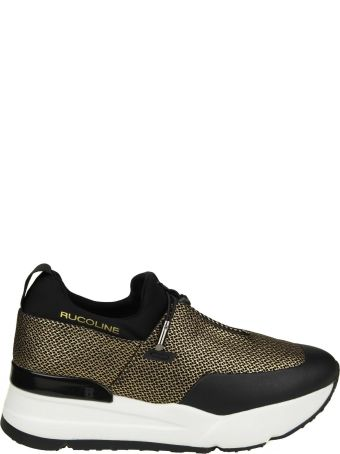 """Ruco Line Rucoline """"essentiel"""" Sneakers In Network And Black And Pink Color"""