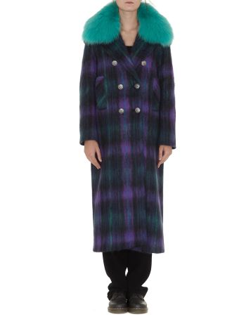 Giada Benincasa Lola Coat With Fur Collar