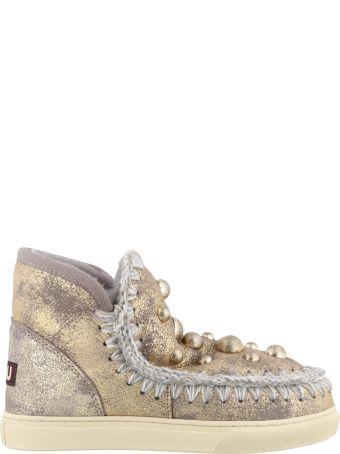 Mou Pearl Studs Eskimo Sneakers