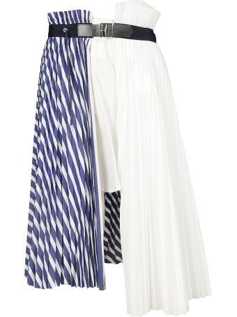 Sacai Pleated Contrast Color Skirt