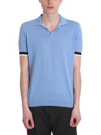 Low Brand Light Blue Cotton Polo Shirt