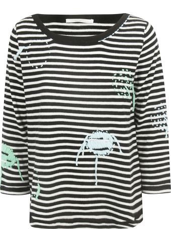 Saverio Palatella Embroidered Striped Jumper
