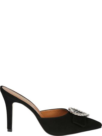 Paris Texas Crystal Embellished Mules
