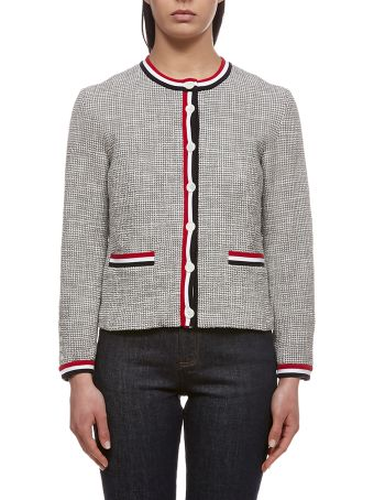 Thom Browne Tweed Crewneck Cardigan