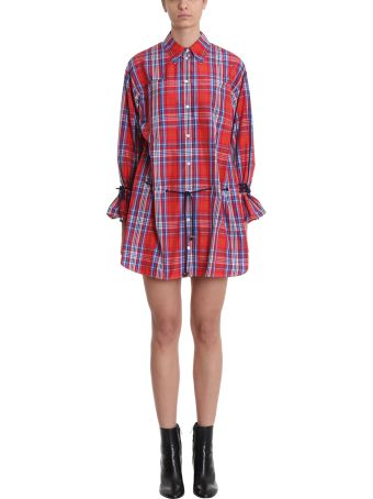 Sonia Rykiel Taffeta Tartan Shirt Dress