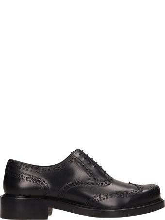 Dsquared2 Black Leather Lace Up