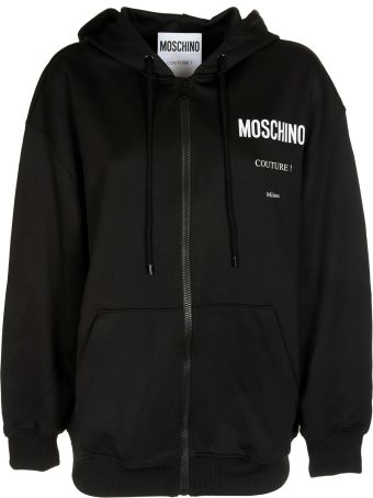 Moschino Embroidered Zip Hoodie