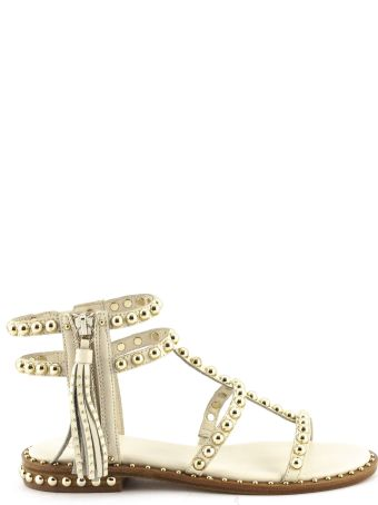 Ash Power Low Sandal In Ivory Leather