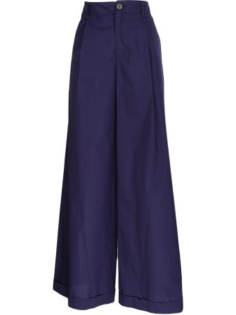 Roberto Collina wide leg cotton trousers
