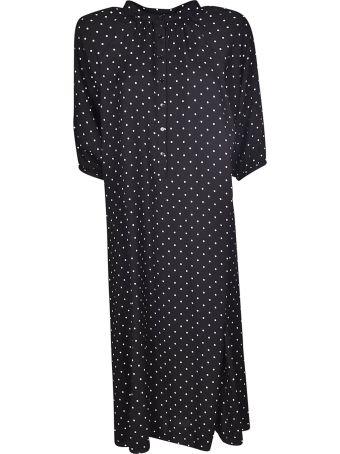 Celine Long Dotted Print Dress