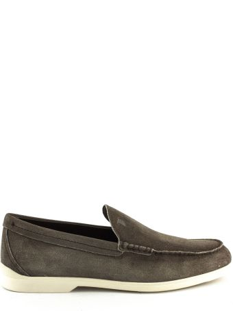 Tod's Loafers In Brown Suede Leather