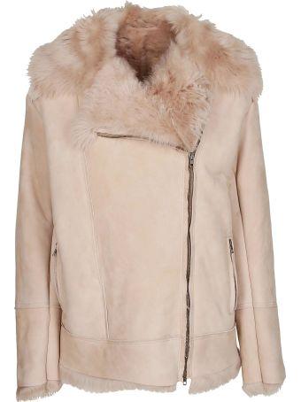 Salvatore Santoro Fur Trim Leather Jacket