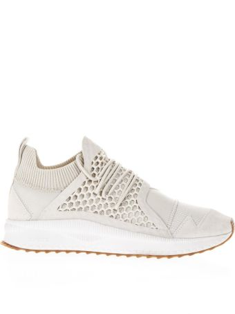 Puma X Han Kjobenhavn Han Silver Birch Leather & Knit Sneakers