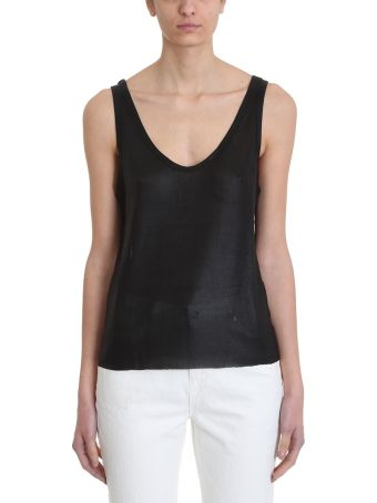 RTA Black Viscose Tank Top