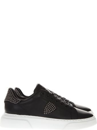 Philippe Model Black Leather Studs Sneakers