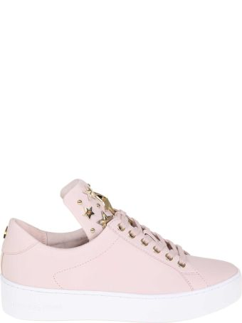 Michael Kors Pink Mindy Sneakers In Leather