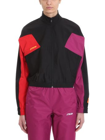 HERON PRESTON Black Nylon Zip Jacket