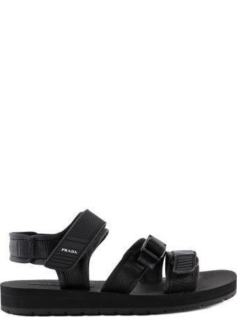 Prada Velcro Strap Sandals