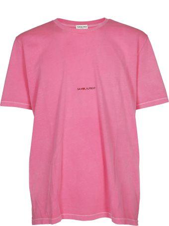 Saint Laurent Front Logo Print T-shirt