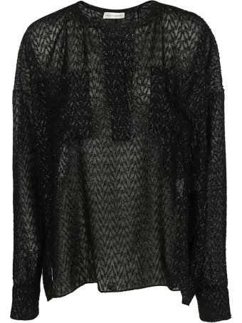 Faith Connexion Sheer Patterned Blouse