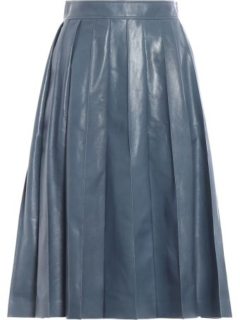 Bottega Veneta Varnished Full Skirt