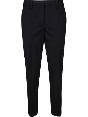 Brag-Wette Cropped Trousers