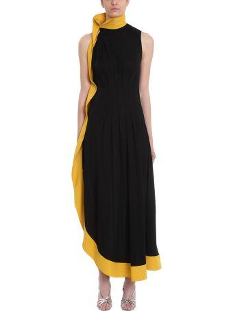 Givenchy Black Crepe Asymmetric Gown Dress