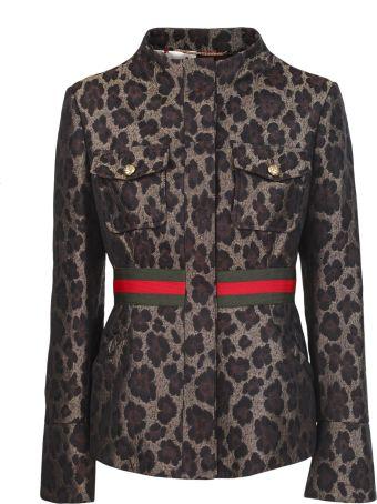 Bazar Deluxe Animal-print jacket