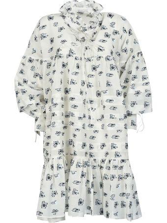 Cecilie Bahnsen Motif Print Oversized Dress