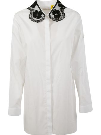 Moncler Genius Rocha Lace Collar Shirt