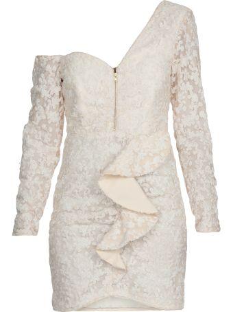self-portrait Sequins Ruffled Mini Dress