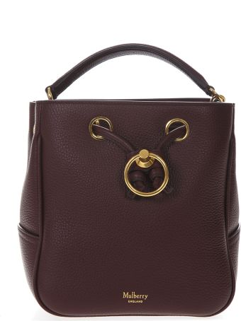 d71e9c956d80 Mulberry Burgundy Leather Bucket Bag